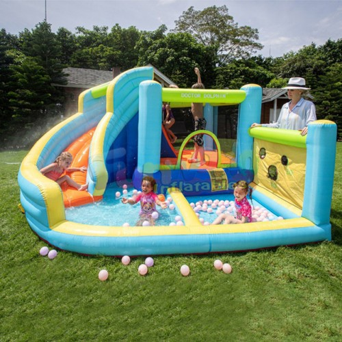 Water Slide Park Jumping Bounce House Inflatable Castle