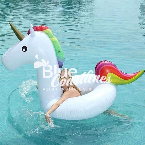 Children Unicorn Ring Swimming Floating Lounge Raft Floater