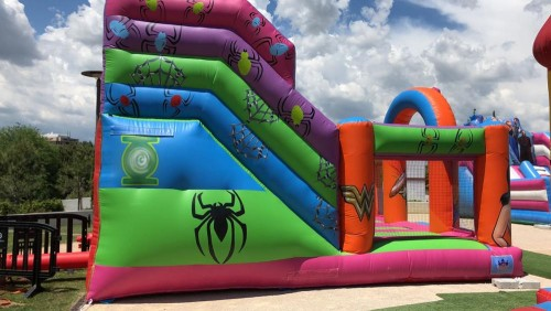 Giant Supper Hero Theme Inflatable Bouncy Castle