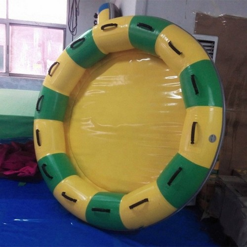 Tarpaulin PVC Inflatable Round Waterpark Raft