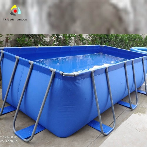 Ground Metal Frame Adult Size Giant Swimming Pool