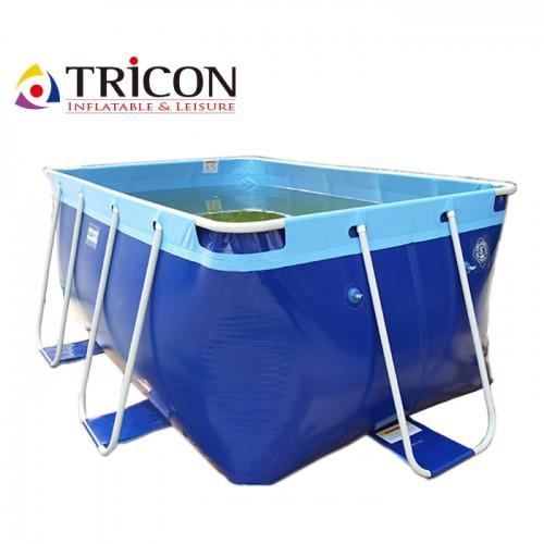 Metal Frame 132cm Plastic Water Pool