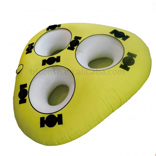 Durable inflatable water tubes towable tube