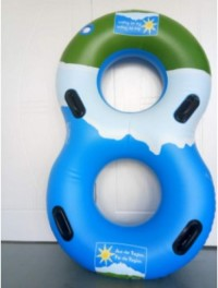 Double Floating Tube Inflatable Twin Swim Ring