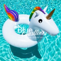 Children Unicorn Ring Swimming Floating Lounge Raft Floater