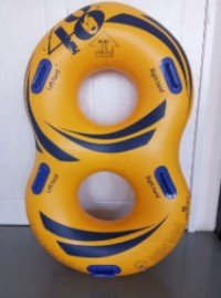 Double Inflatable Waterpark Tube With Bottom
